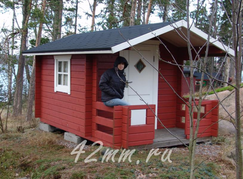 Дачный домик своими руками 3х3